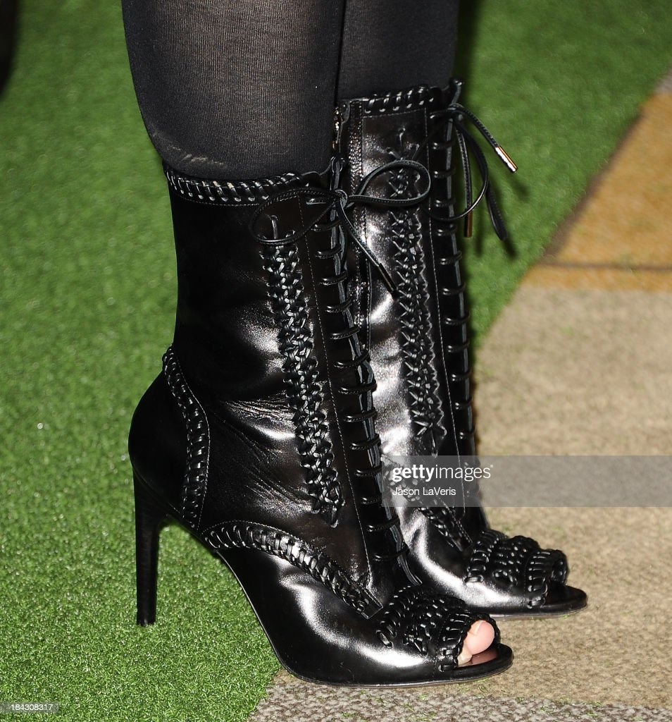 Actress Kristin Davis (shoe detail) attends Hugh Jackman's 'One Night Only' benefitting the MPTF (Motion Picture & Television Fund) at Dolby Theatre on October 12, 2013 in Hollywood, California.