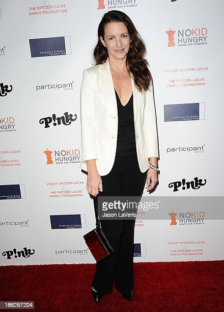 Actress Kristin Davis attends Share Our Strength's No Kid Hungry dinner at Ron Burkle's Green Acres Estate on October 29 2013 in Beverly Hills...