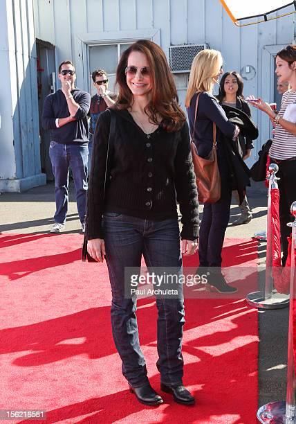 Actress Kristin Davis attends the 14th anniversary of PS Arts Express Yourself gala at Barker Hangar on November 11 2012 in Santa Monica California