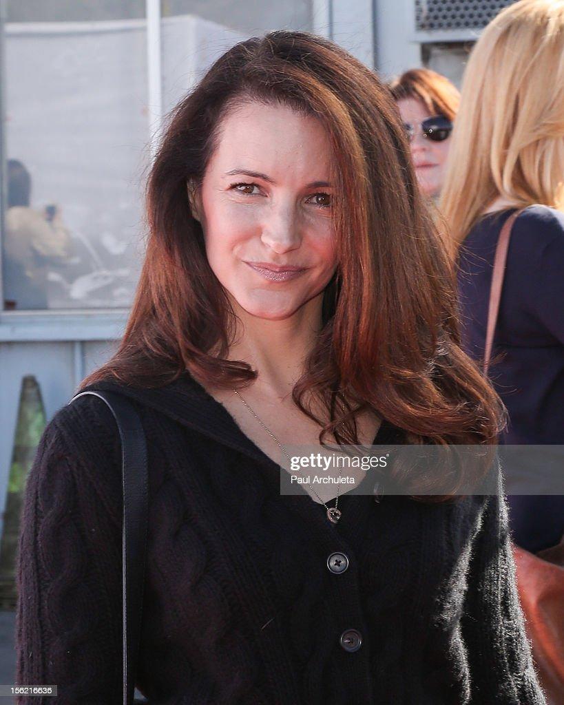 Actress Kristin Davis attends the 14th anniversary of P.S. Arts Express Yourself gala at Barker Hangar on November 11, 2012 in Santa Monica, California.