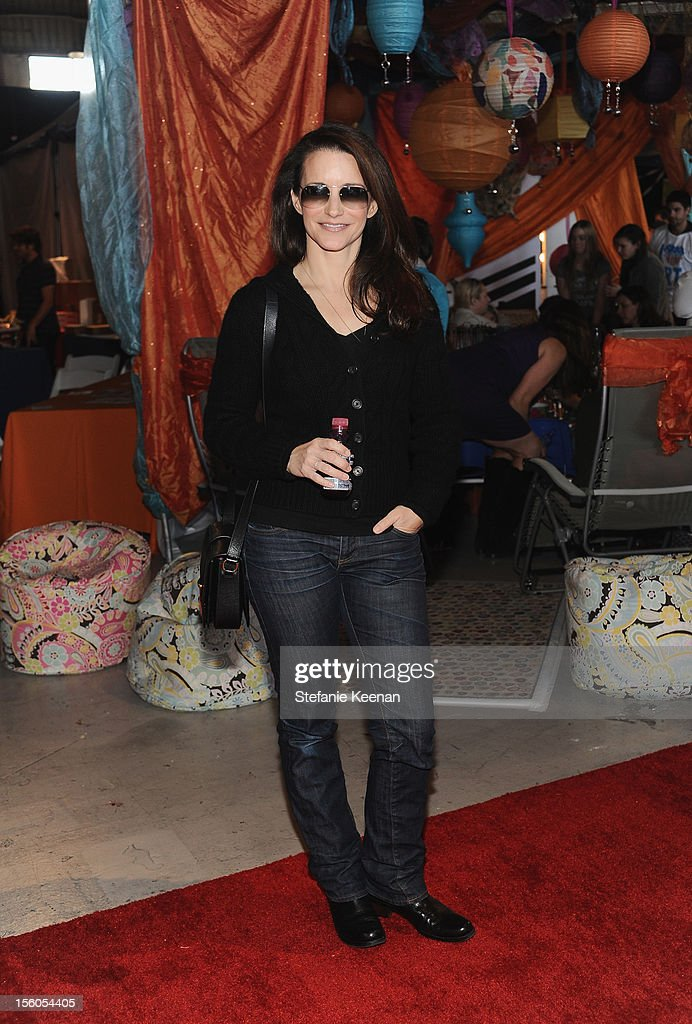 Actress Kristin Davis attends the creative arts fair and family day 'Express Yourself', supporting P.S. ARTS, at Barker Hangar on November 11, 2012 in Santa Monica, California.