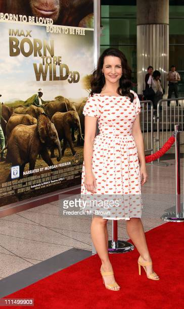 Actress Kristin Davis attends the premiere of Warner Brothers' 'Born to be Wild' at the California Science Center on April 3 2011 in Los Angeles...