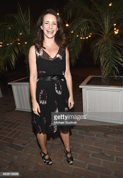 Actress Kristin Davis attends VANITY FAIR and Barneys New York Dinner benefiting OXFAM hosted by Rooney Mara at Chateau Marmont on February 18 2015...