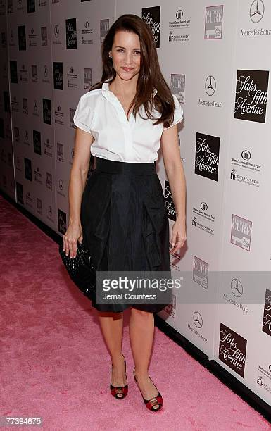 Actress Kristin Davis on the Red carpet at the 'VIVA LA CURE' Benefiting for EIF's Women's Cancer Research Fund hosted by SAKS Fifth Avenue at The...