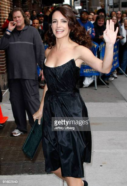 Actress Kristin Davis visits the ''Late Show With David Letterman'' at the Ed Sullivan Theater on October 8 2009 in New York City