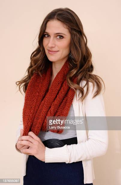 Actress Kristin Erickson poses for a portrait during the 2012 Sundance Film Festival at the Getty Images Portrait Studio at TMobile Village at the...