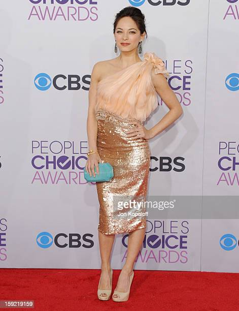 Actress Kristin Kreuk arrives at the 2013 People's Choice Awards at Nokia Theatre LA Live on January 9 2013 in Los Angeles California