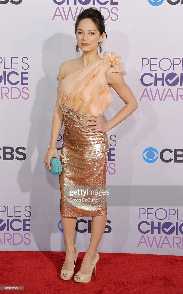 Actress Kristin Kreuk arrives at the 2013 People's Choice Awards at Nokia Theatre L.A. Live on January 9, 2013 in Los Angeles, California.