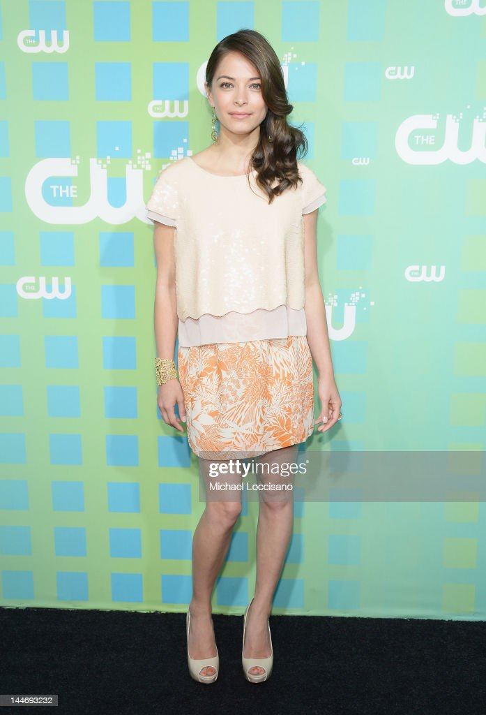 Actress <a gi-track='captionPersonalityLinkClicked' href=/galleries/search?phrase=Kristin+Kreuk&family=editorial&specificpeople=216415 ng-click='$event.stopPropagation()'>Kristin Kreuk</a> attends The CW Network's New York 2012 Upfront at New York City Center on May 17, 2012 in New York City.