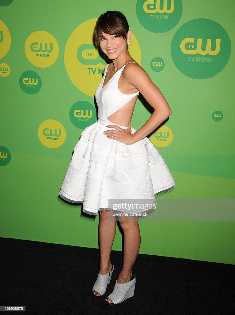 Actress <a gi-track='captionPersonalityLinkClicked' href=/galleries/search?phrase=Kristin+Kreuk&family=editorial&specificpeople=216415 ng-click='$event.stopPropagation()'>Kristin Kreuk</a> attends The CW Network's New York 2013 Upfront Presentation at The London Hotel on May 16, 2013 in New York City.