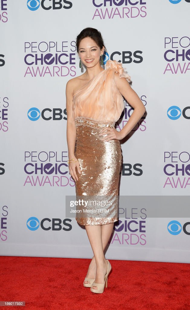 Actress Kristin Kreuk poses in the press room at the 39th Annual People's Choice Awards at Nokia Theatre L.A. Live on January 9, 2013 in Los Angeles, California.