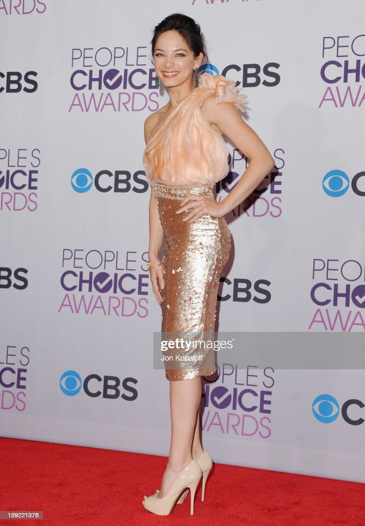 Actress Kristin Kreuk poses in the pressroom at the 2013 People's Choice Awards at Nokia Theatre L.A. Live on January 9, 2013 in Los Angeles, California.