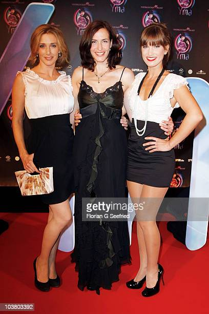 Actress Kristin Meier actress Ulrike Frank and actress Isabell Horn attend the World Premiere of 'YMA Zu Schoen Um Wahr Zu Sein' at...