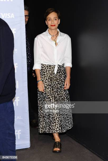 Actress Kristin Scott Thomas attends 'Darkest Hour' press conference during 2017 Toronto International Film Festival at TIFF Bell Lightbox on...