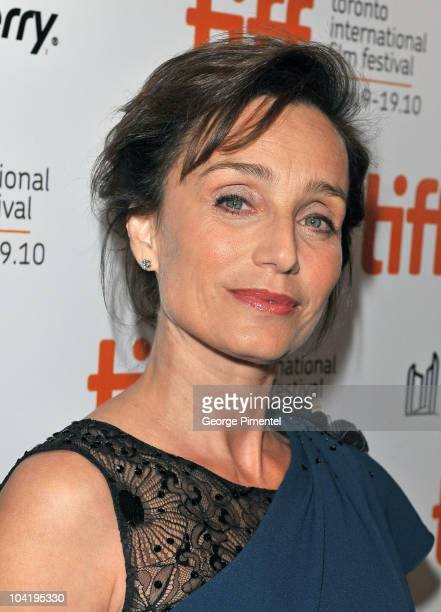 Actress Kristin Scott Thomas attends 'Sarah's Key' Premiere during the 35th Toronto International Film Festival at Roy Thomson Hall on September 16...