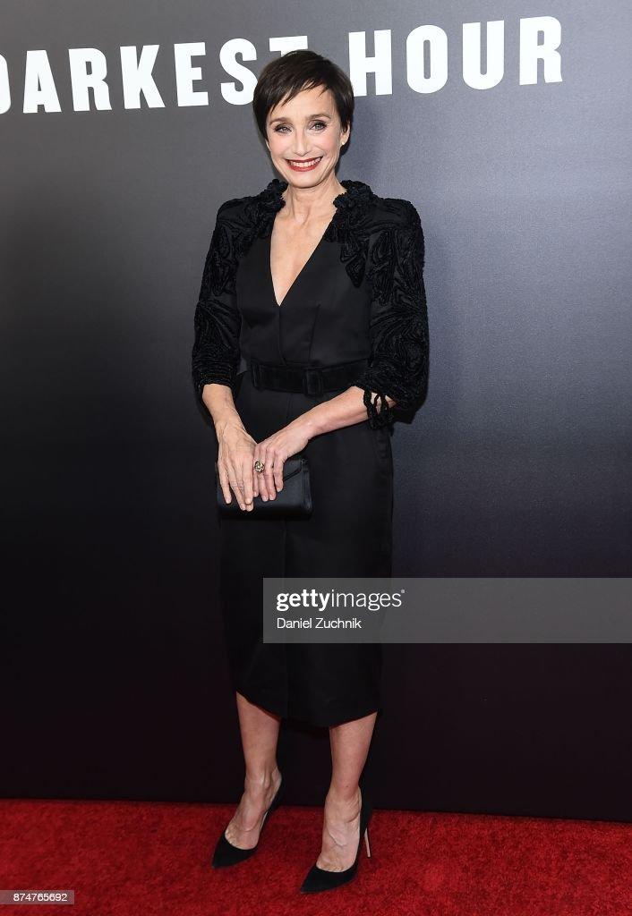 Actress Kristin Scott Thomas attends the 'Darkest Hour' New York Premiere at Paris Theatre on November 15, 2017 in New York City.