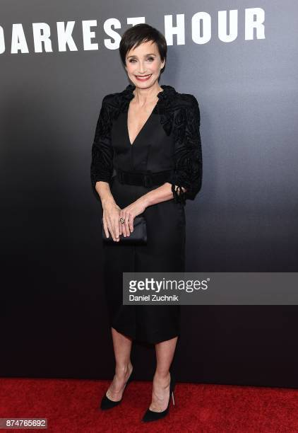 Actress Kristin Scott Thomas attends the 'Darkest Hour' New York Premiere at Paris Theatre on November 15 2017 in New York City