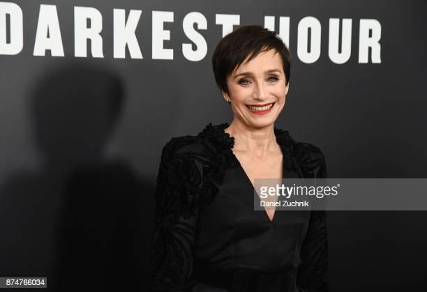Actress Kristin Scott Thomas attends the 'Darkest Hour' New York Premiere at Paris Theatre on November 15 2017 in New York City