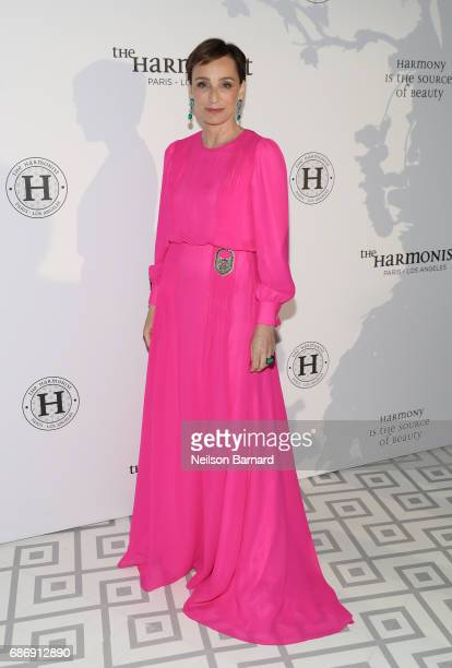 Actress Kristin Scott Thomas attends The Harmonist Gala Event during the 70th annual Cannes Film Festival at Club Albane on May 22 2017 in Cannes...