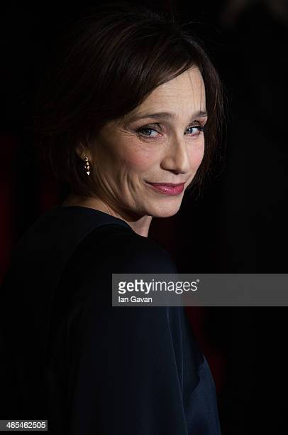 Actress Kristin Scott Thomas attends 'The Invisible Woman' UK Premiere at the Odeon Kensington on January 27 2014 in London England