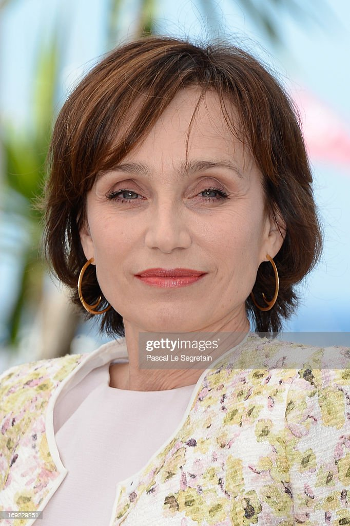 Actress <a gi-track='captionPersonalityLinkClicked' href=/galleries/search?phrase=Kristin+Scott+Thomas&family=editorial&specificpeople=203290 ng-click='$event.stopPropagation()'>Kristin Scott Thomas</a> attends the 'Only God Forgives' Photocall during the 66th Annual Cannes Film Festival on May 22, 2013 in Cannes, France.