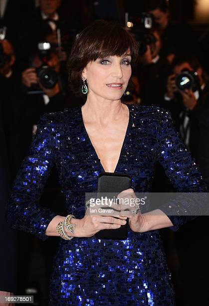 Actress Kristin Scott Thomas attends the 'Only God Forgives' Premiere during the 66th Annual Cannes Film Festival at Palais des Festivals on May 22...