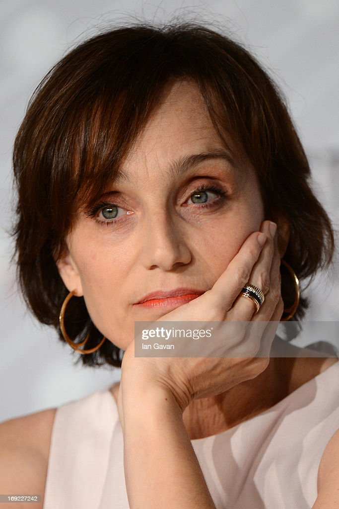 Actress Kristin Scott Thomas attends the 'Only God Forgives' Press Conference during the 66th Annual Cannes Film Festival on May 22, 2013 in Cannes, France.