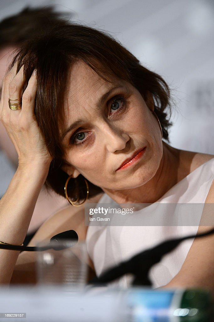 Actress <a gi-track='captionPersonalityLinkClicked' href=/galleries/search?phrase=Kristin+Scott+Thomas&family=editorial&specificpeople=203290 ng-click='$event.stopPropagation()'>Kristin Scott Thomas</a> attends the 'Only God Forgives' Press Conference during the 66th Annual Cannes Film Festival on May 22, 2013 in Cannes, France.