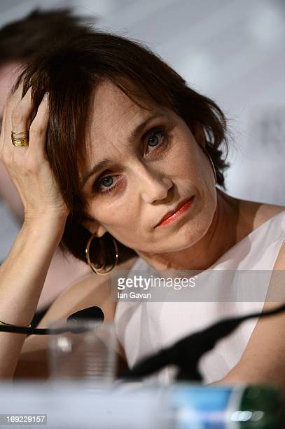 Actress Kristin Scott Thomas attends the 'Only God Forgives' Press Conference during the 66th Annual Cannes Film Festival on May 22 2013 in Cannes...