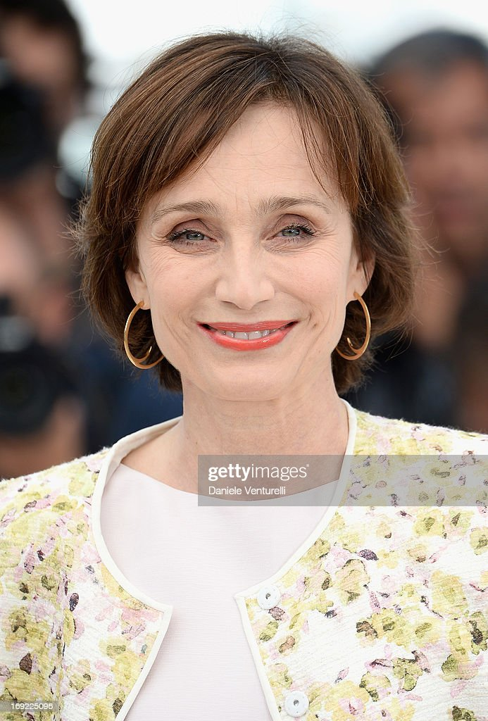 Actress Kristin Scott Thomas attends the photocall for 'Only God Forgives' during The 66th Annual Cannes Film Festival at the Palais des Festivals on May 22, 2013 in Cannes, France.