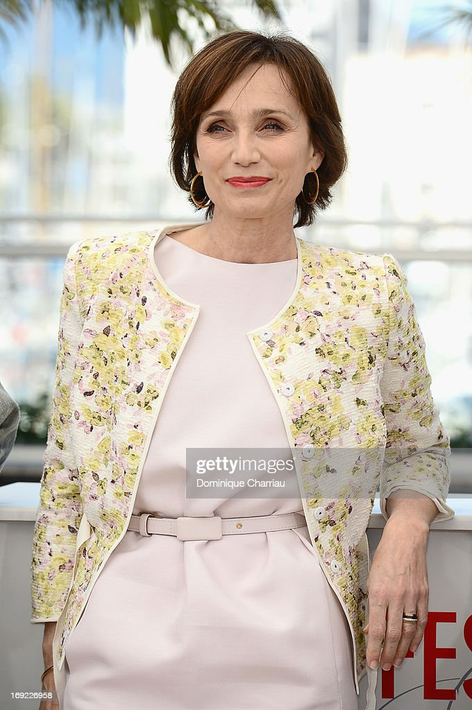 Actress Kristin Scott Thomas attends the photocall for 'Only God Forgives' during The 66th Annual Cannes Film Festival at the Palais des Festivals on...
