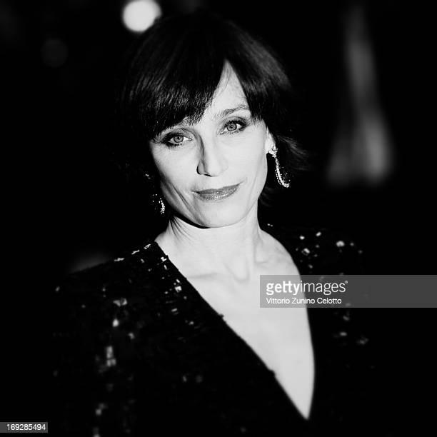 Actress Kristin Scott Thomas attends the Premiere of 'Only God Forgives' during the 66th Annual Cannes Film Festival on May 22 2013 in Cannes France