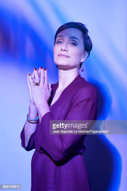 Actress Kristin Scott Thomas is photographed for Madame Figaro on September 15 2017 at the Toronto Film Festival in Toronto Ontario PUBLISHED IMAGE...