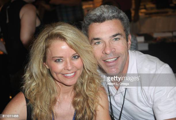 Actress Kristina Wagner and actor John J York sign autographs at The Hollywood Show held at Westin LAX Hotel on July 8 2017 in Los Angeles California