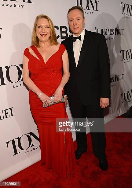 Actress Kristine Nielsen and Brent Langdon attend The 67th Annual Tony Awards at Radio City Music Hall on June 9 2013 in New York City