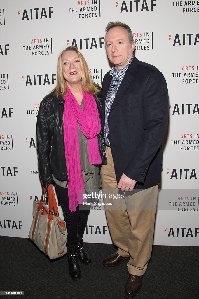 Actress Kristine Nielsen and Brent Langdon attend the 'Lobby Hero' Photo Call at Studio 54 on November 9 2015 in New York City