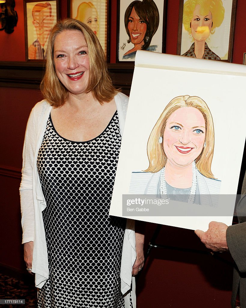 Actress Kristine Nielsen attends Kristine Nielsen's Caricature Unveiling at Sardi's on August 21 2013 in New York City