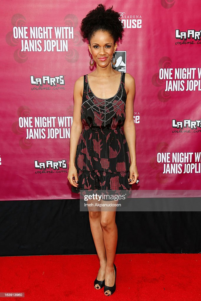 Actress Kristy Johnson attends the opening night of 'One Night With Janis Joplin' at Pasadena Playhouse on March 17, 2013 in Pasadena, California.