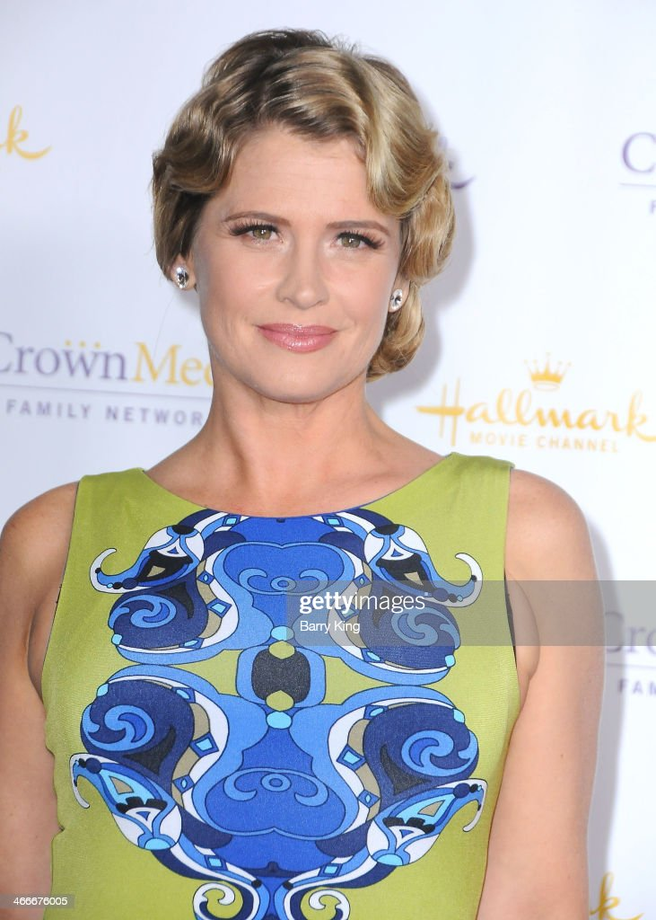 Actress Kristy Swanson arrives at the Hallmark Channel Hallmark Movie Channel 2014 Winter TCA Party on January 11 2014 at The Huntington Library and...