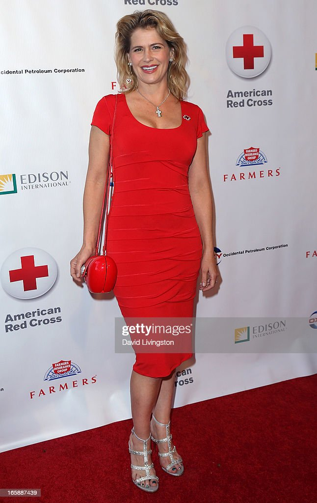 Actress Kristy Swanson attends the 7th Annual American Red Cross Red Tie Affair at the Fairmont Miramar Hotel on April 6, 2013 in Santa Monica, California.