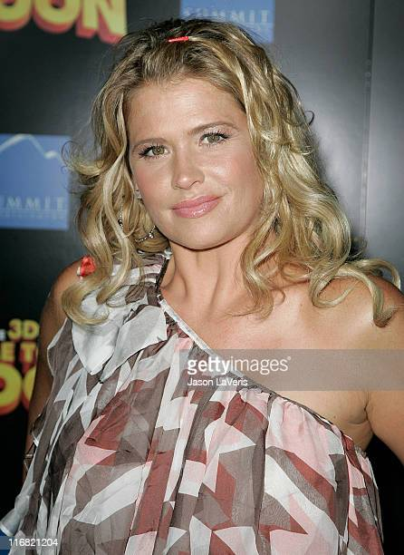 Actress Kristy Swanson attends the Los Angeles premiere of 'Fly Me to the Moon' at the DGA Theater on August 3 2008 in Los Angeles California