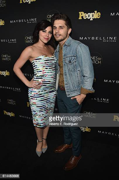 Actress Krysta Rodriguez and actorAndy Mientus attend People's 'Ones to Watch' event presented by Maybelline New York at EP LP on October 13 2016 in...