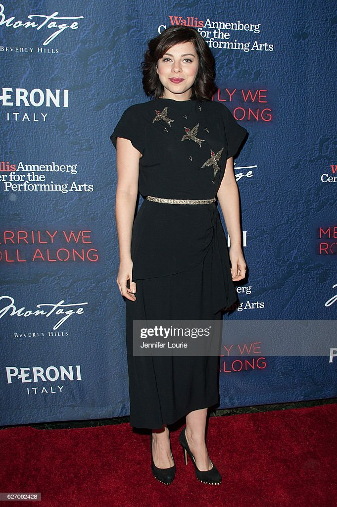 Actress Krysta Rodriguez arrives at the Opening Night of 'Merrily We Roll Along' at the Wallis Annenberg Center for the Performing Arts on November 30, 2016 in Beverly Hills, California.