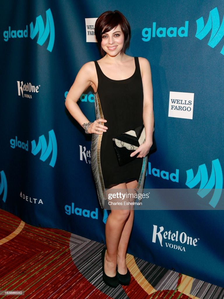 Actress Krysta Rodriguez attends the 24th annual GLAAD Media awards at The New York Marriott Marquis on March 16, 2013 in New York City.