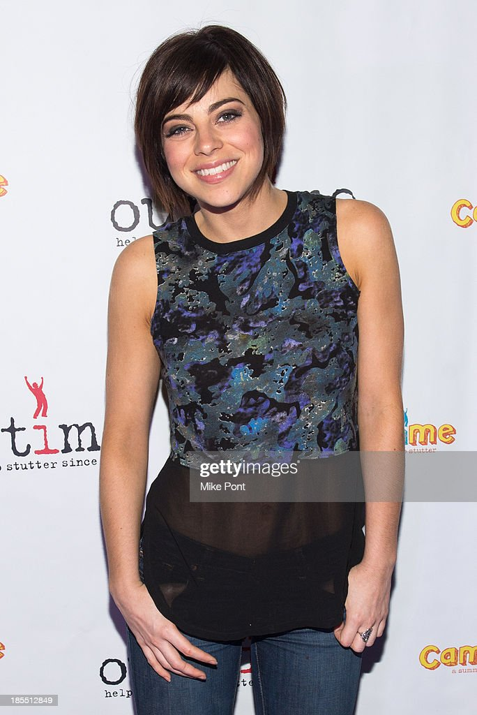 Actress <a gi-track='captionPersonalityLinkClicked' href=/galleries/search?phrase=Krysta+Rodriguez&family=editorial&specificpeople=5356530 ng-click='$event.stopPropagation()'>Krysta Rodriguez</a> attends the Paul Rudd 2nd Annual All-Star Bowling Benefit at Lucky Strike on October 21, 2013 in New York City.