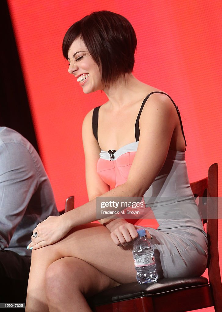 Actress Krysta Rodriguez speaks onstage at the 'Smash' panel discussion during the NBCUniversal portion of the 2013 Winter TCA Tour- Day 3 at the Langham Hotel on January 6, 2013 in Pasadena, California.