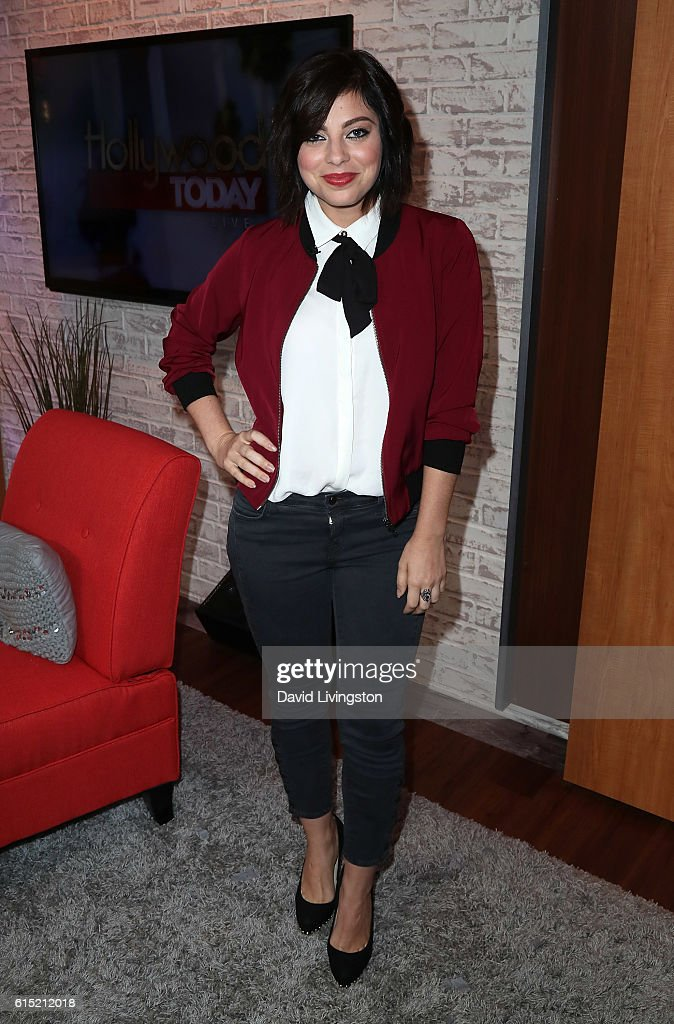Actress Krysta Rodriguez visits Hollywood Today Live at W Hollywood on October 17, 2016 in Hollywood, California.
