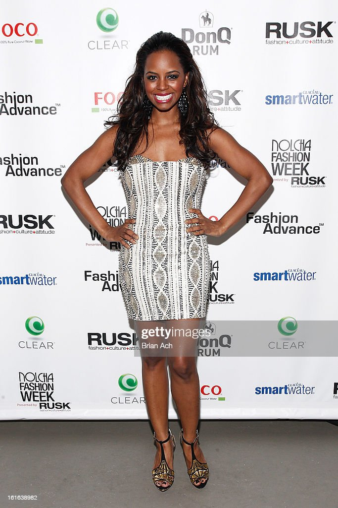 Actress Krystal Joy Brown attends Nolcha Fashion Week New York 2013 presented by RUSK at Pier 59 Studios on February 13, 2013 in New York City.