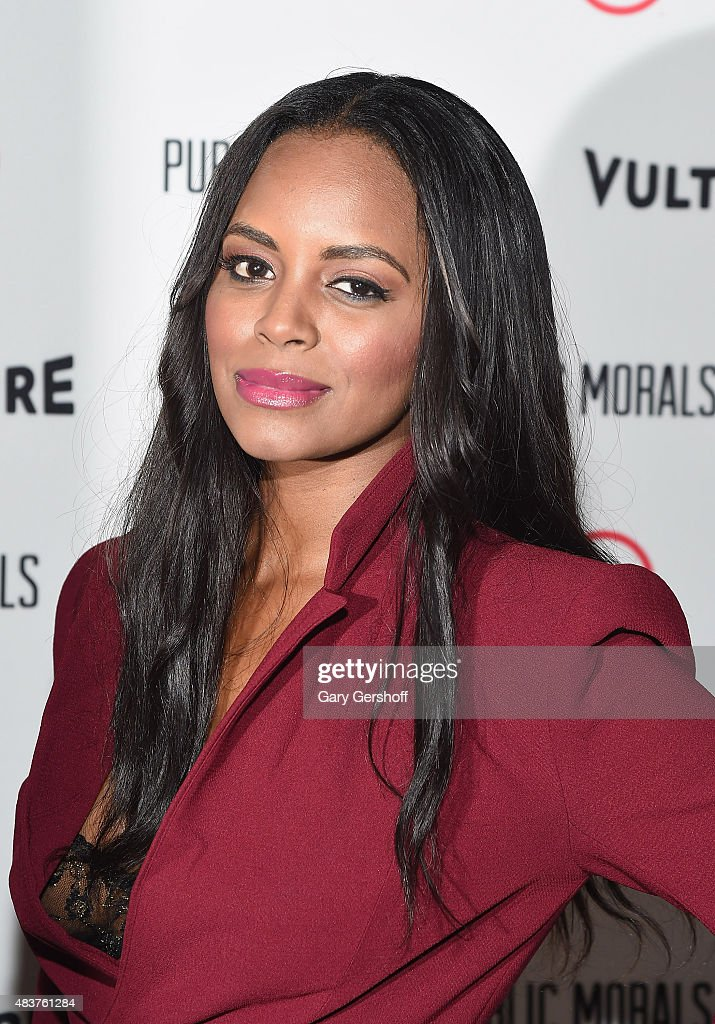 Actress Krystal Joy Brown attends the 'Public Morals' New York Screening at Tribeca Grand Screening Room on August 12, 2015 in New York City.