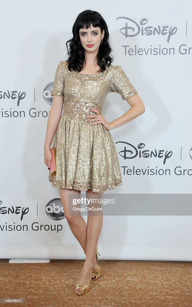 Actress Krysten Ritter arrives at the 2012 Disney ABC Television TCA summer press tour party at The Beverly Hilton Hotel on July 27, 2012 in Beverly Hills, California.